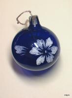 Шар синий с цветком